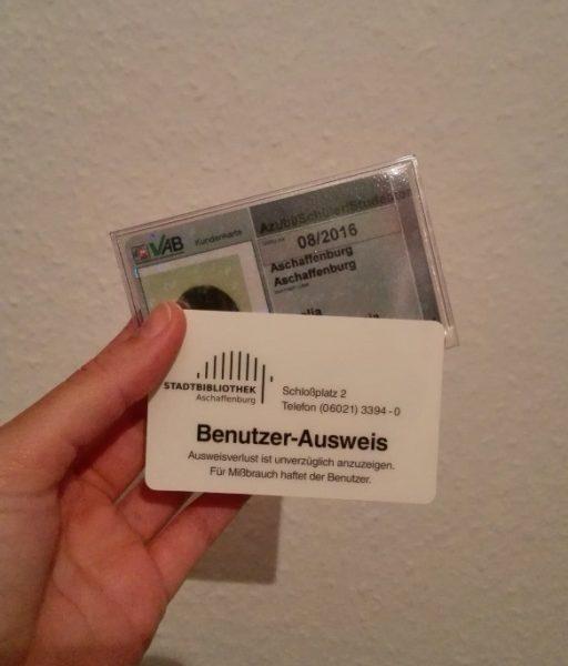 Bibliothek und Bus Ausweise in Deutschland
